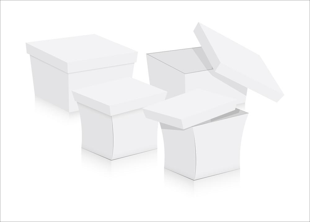 Birthday Gift Boxes Vector Illustration
