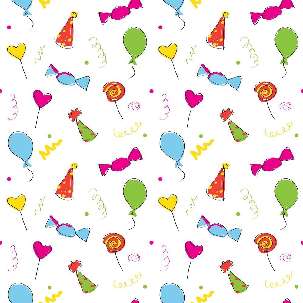 Birthday Seamless Wallpaper. Vector