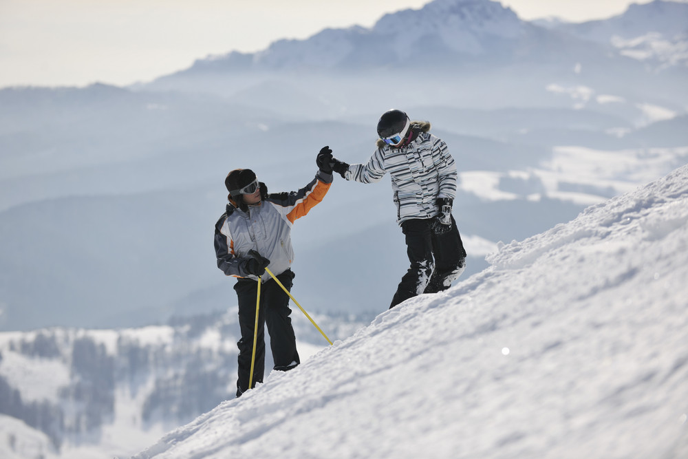 Achiving goals on mountain's top