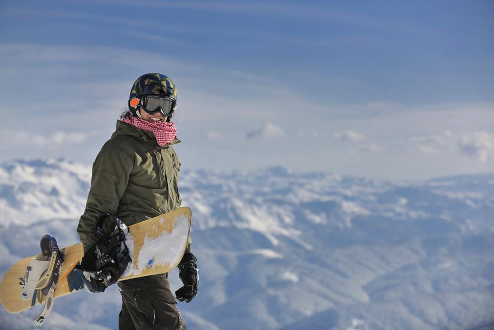 Snowboarder portrait