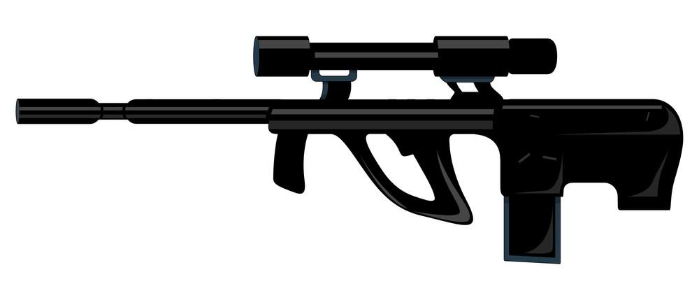 Black Ancient Shooting Gun