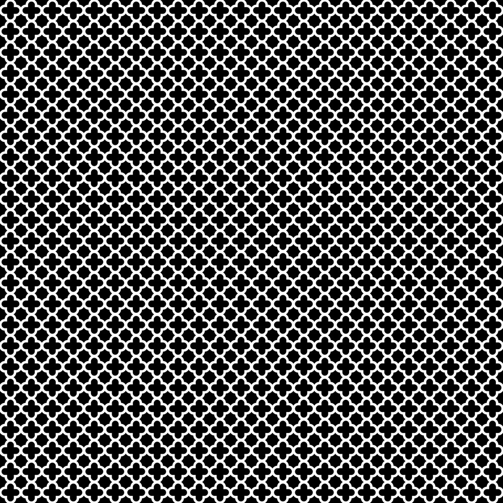 Black And White Cross Pattern