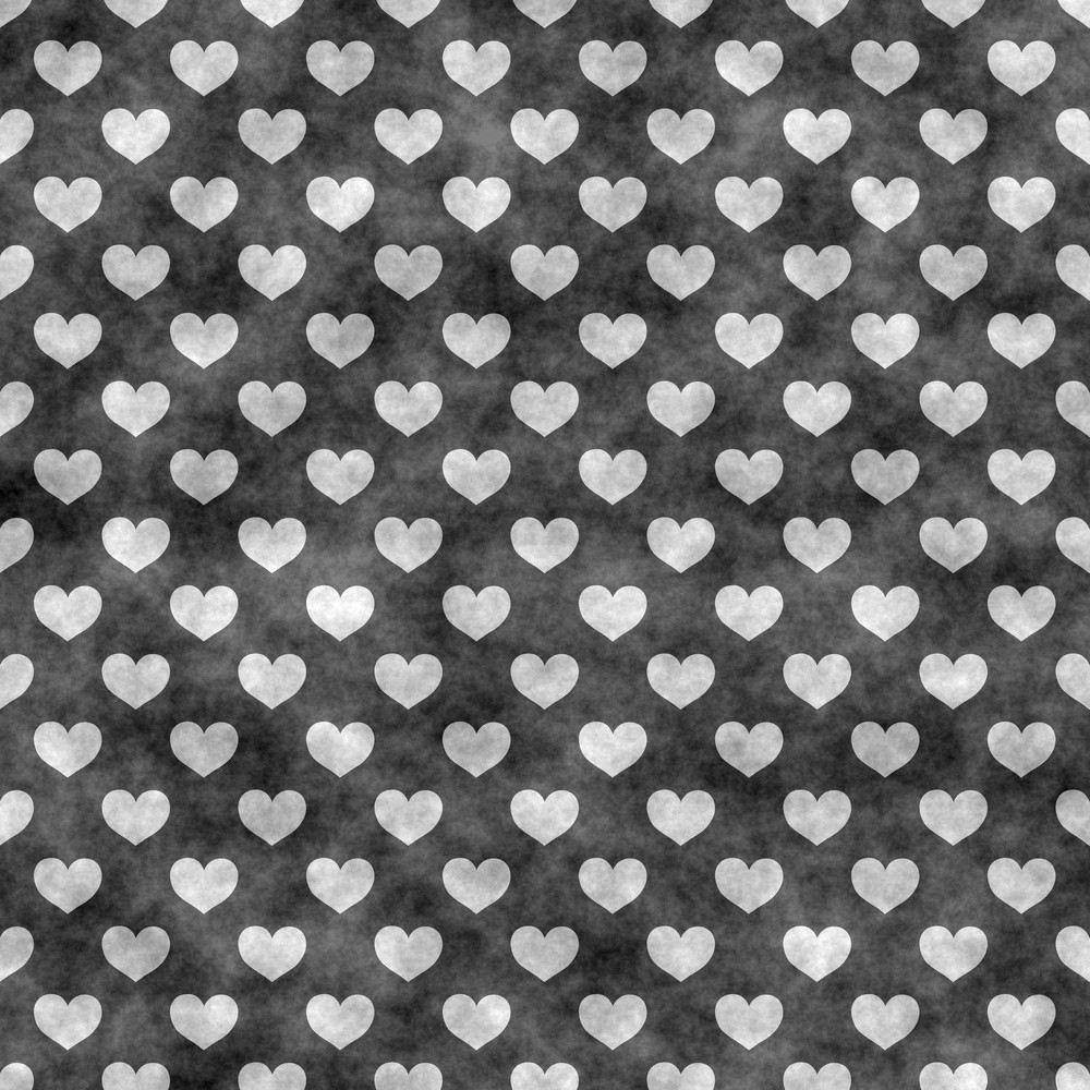 Black And White Heart Chalkboard Pattern