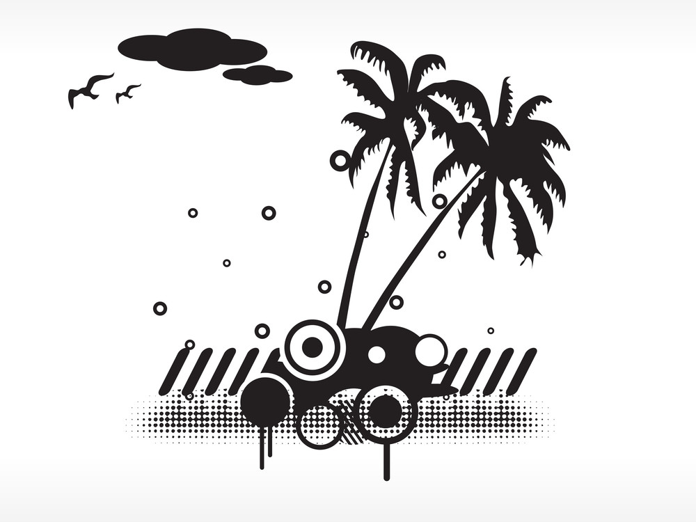 Black And White Summer Background Concept