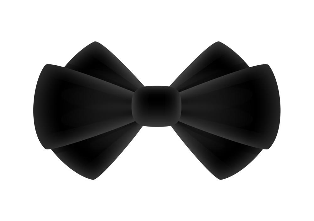 Black Anniversary Ribbon Bow