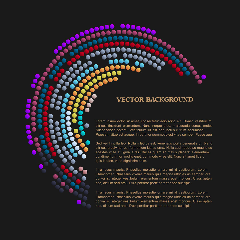Black Background With Abstract Mosaic