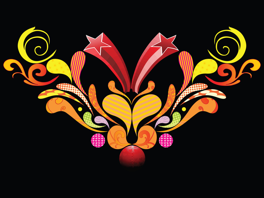 Black Background With Colorful Artwork