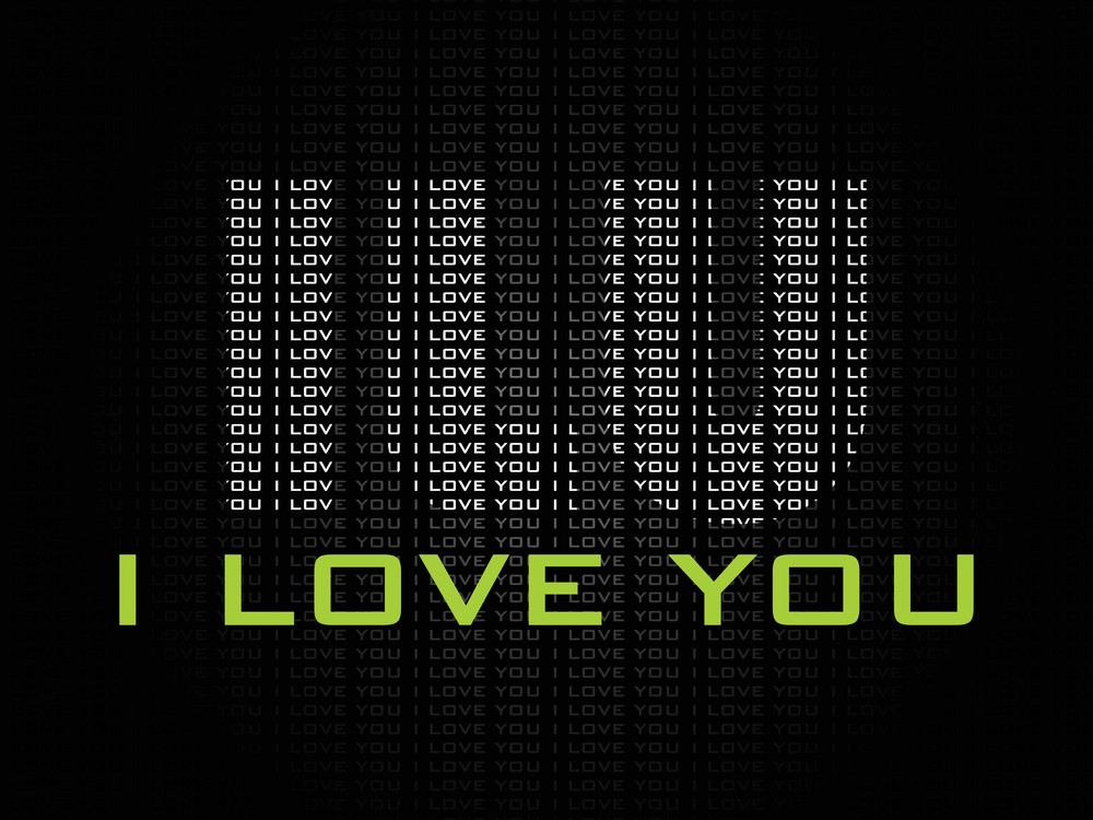 Black Background With I Love You