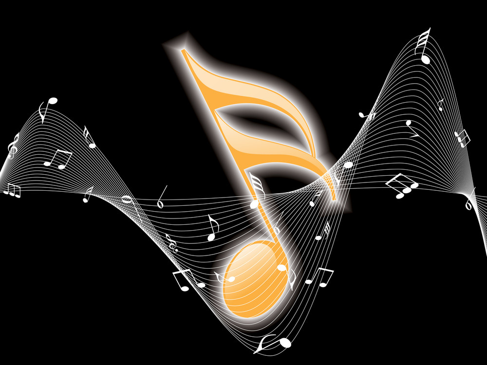 Black Background With Music Notes