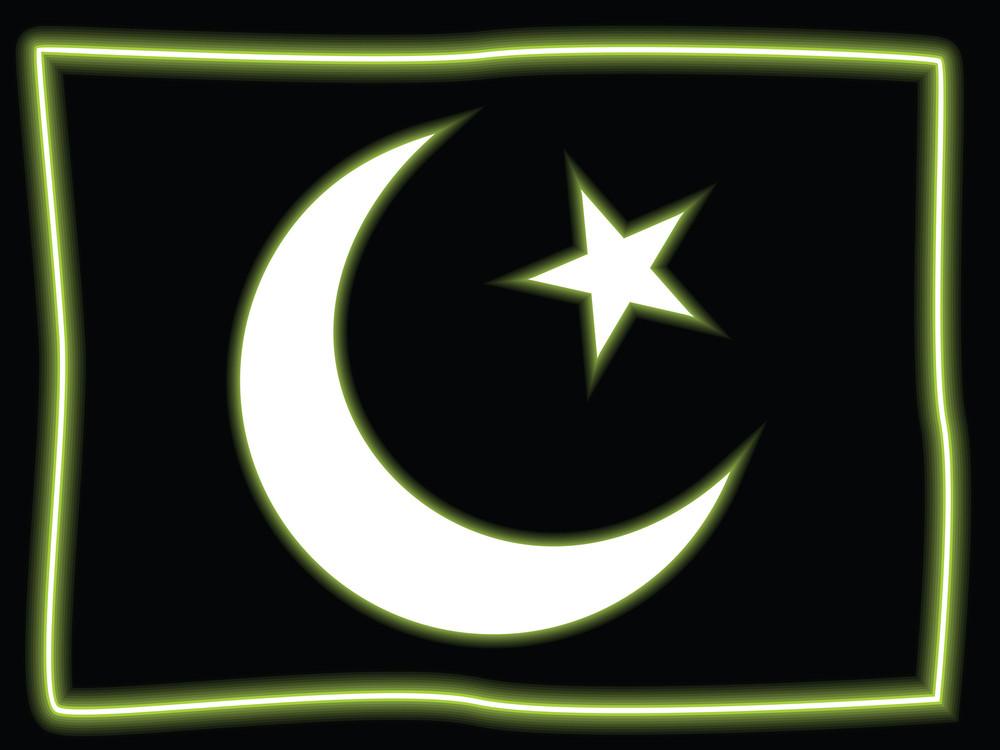Black Background With Pak Flag Symbol