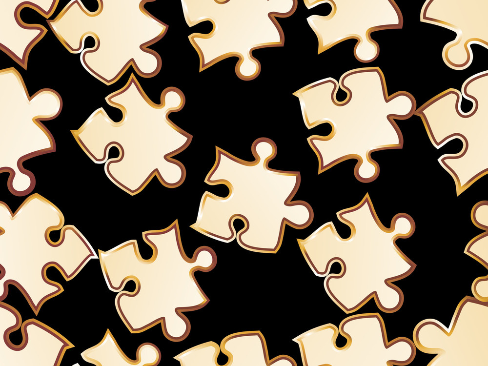 Black Background With Puzzle