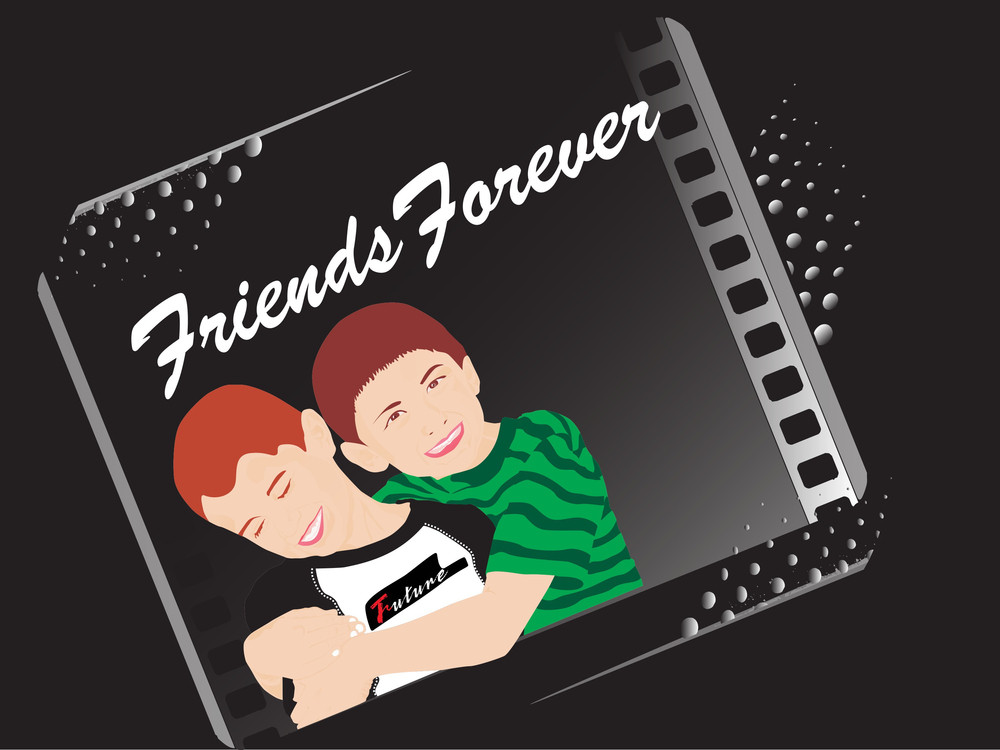 Black Background With Two Friend