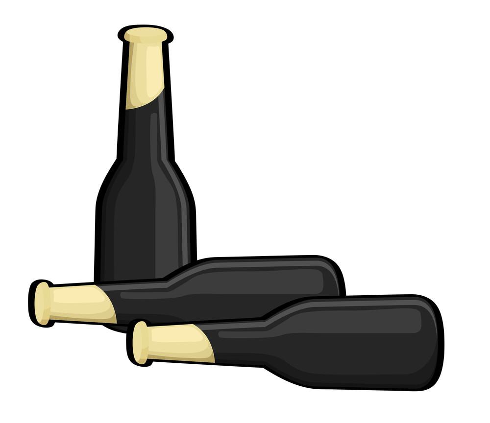 Black Champaign Bottles