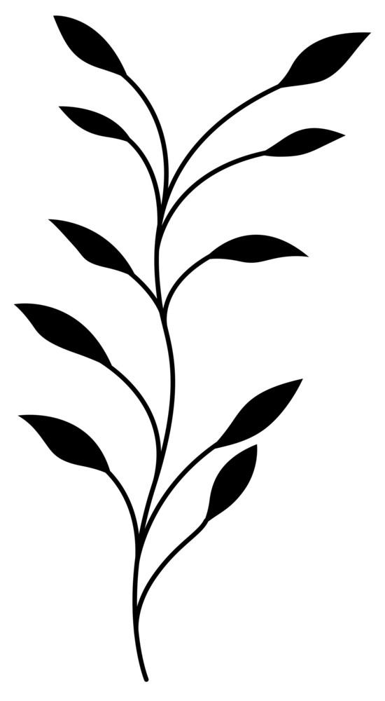 Black Floral Twig