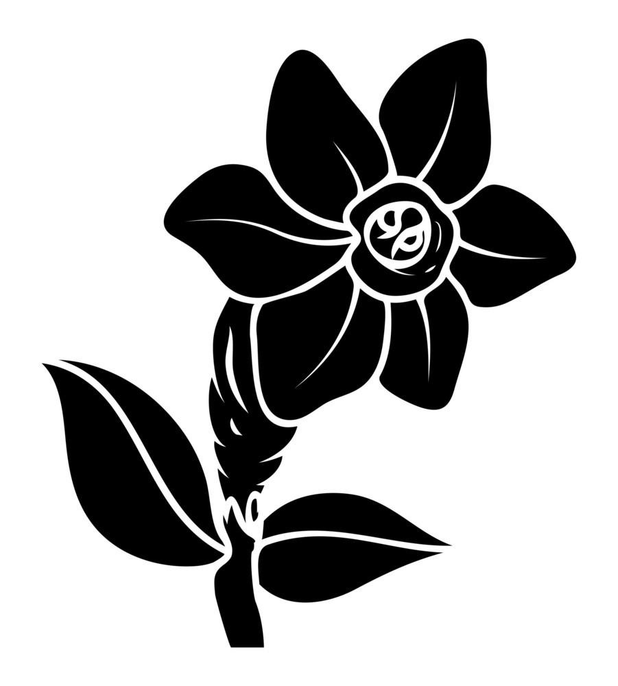 Black Flower Vector Design