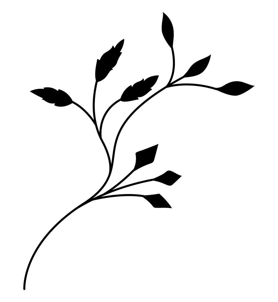 Black Foliage Element