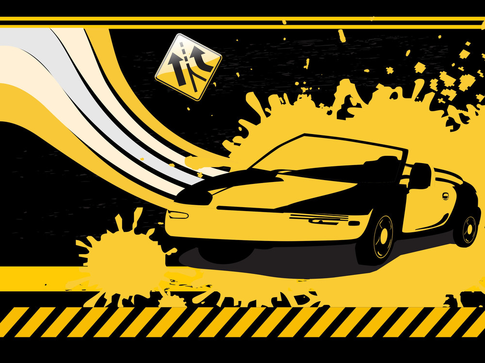 Black Grunge Car Background