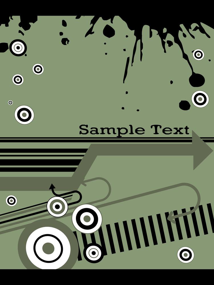 Black Grunge With Green Background