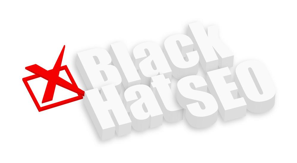 Black Hat Seo 3d Text
