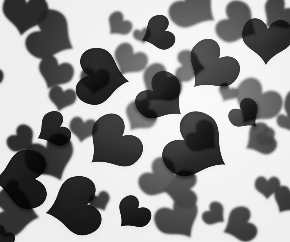 Black Hearts Background