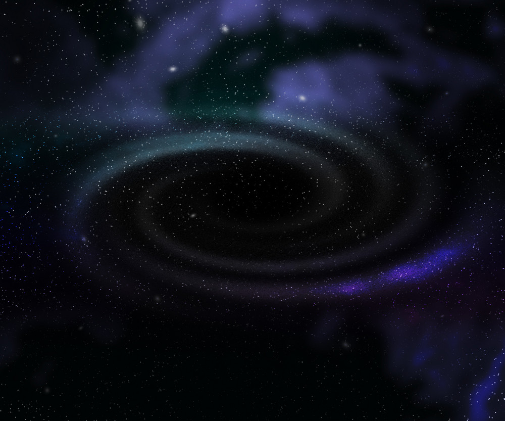 Black Hole Outer Space Backdrop
