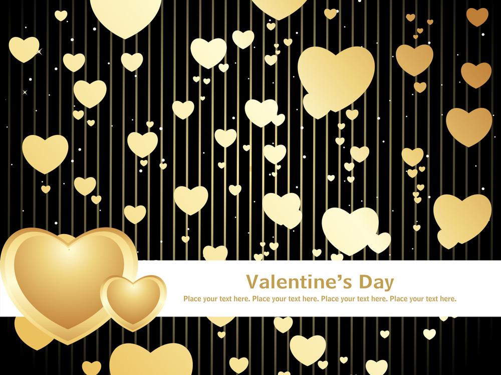Black Love Design Background