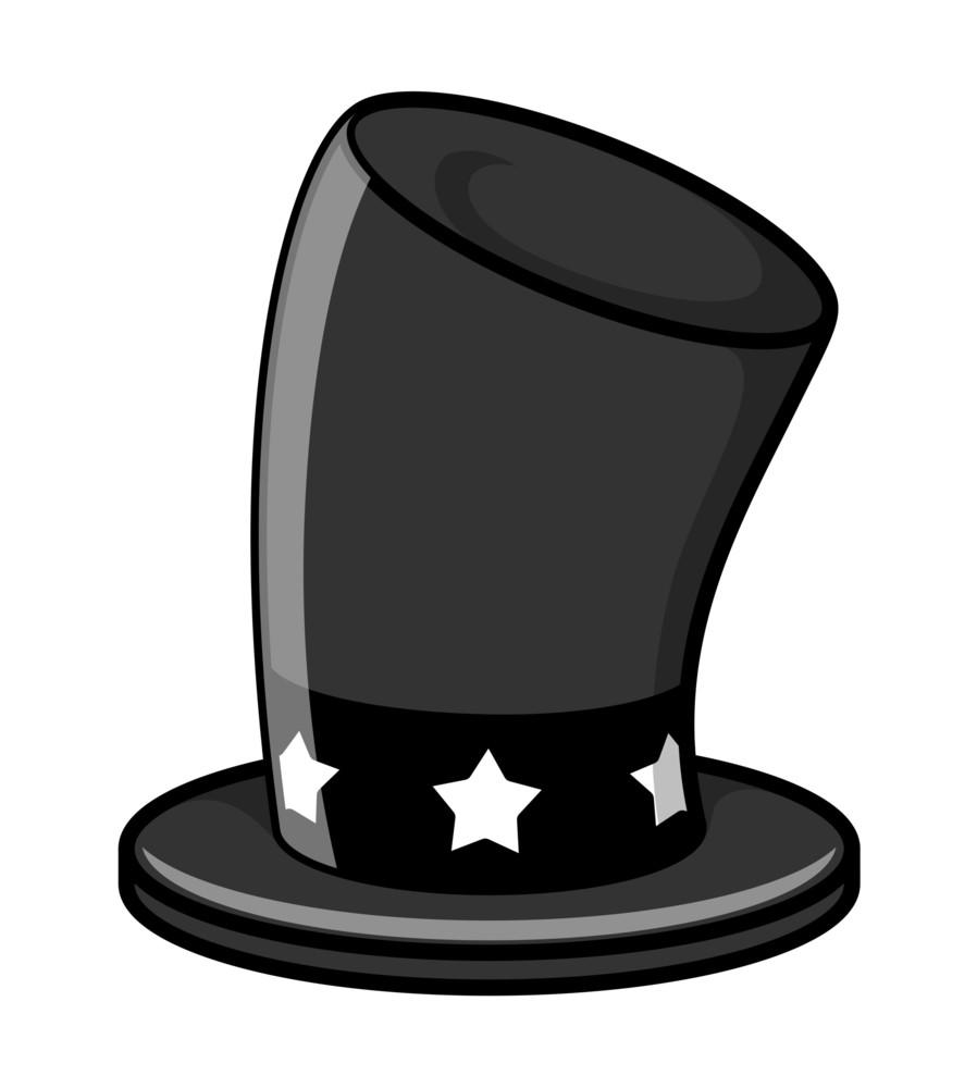 Black Magic Hat Vector