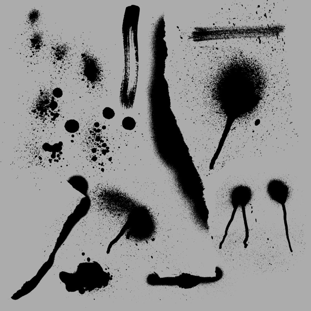 Black Paint Spray Vectors