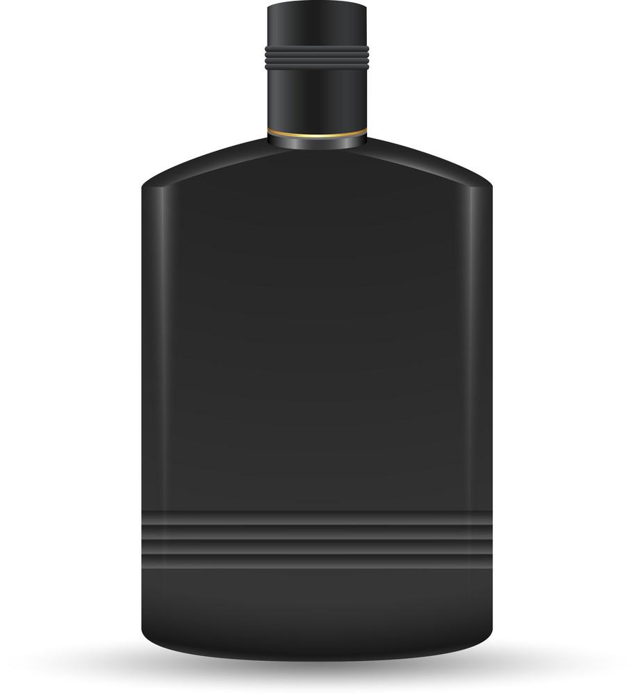 Black Plastic Bottle Illustration