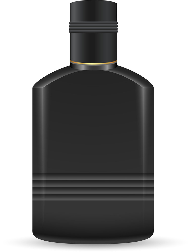 Black Plastic Bottle Vector