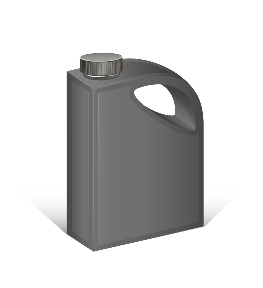 Black Plastic Can Vector