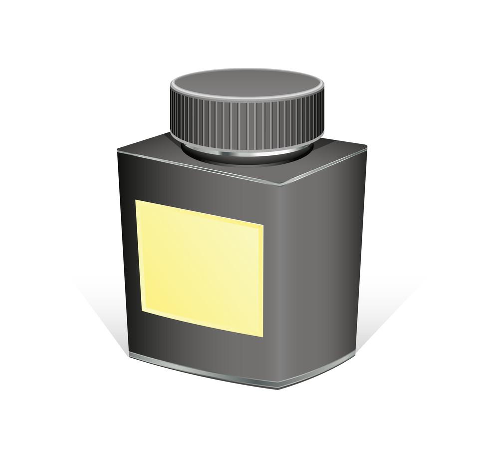 Black Retro Bottle Vector