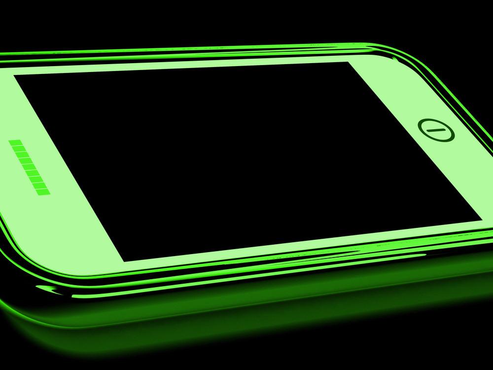 Black Screen On Smartphone Shows Broken Display