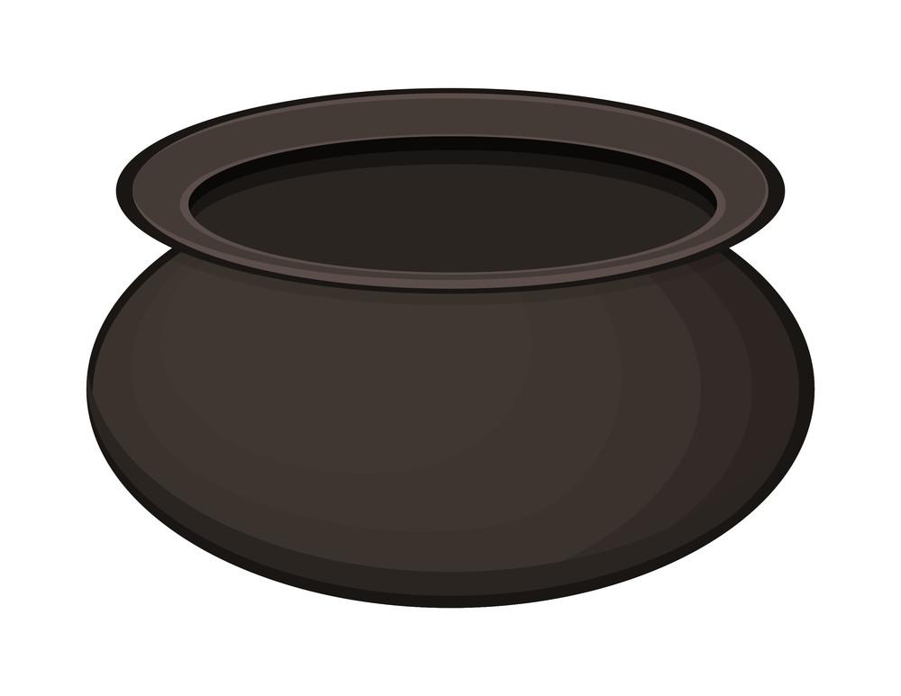 Black Shape Cauldron