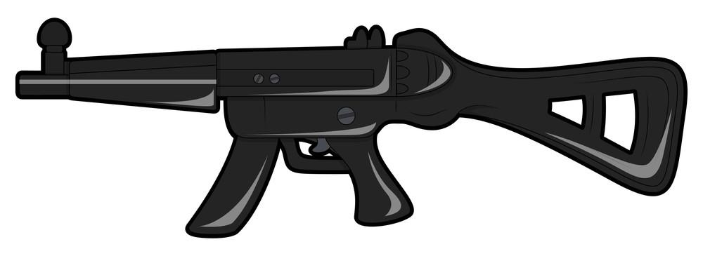 Black Shooting Gun