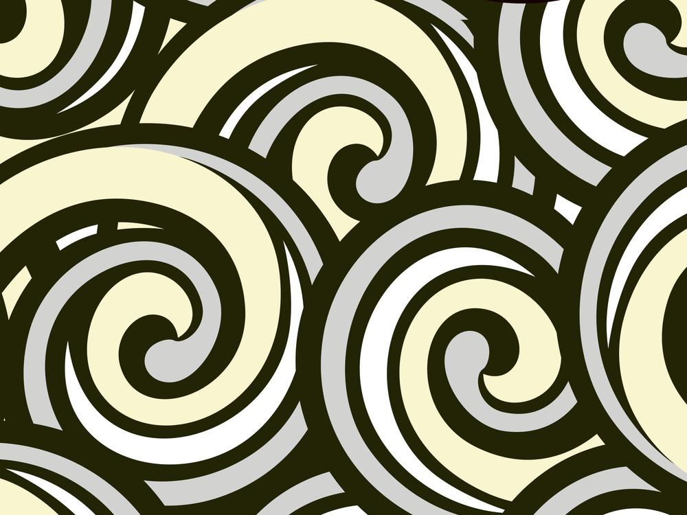 Black Spirals Pattern Illustration