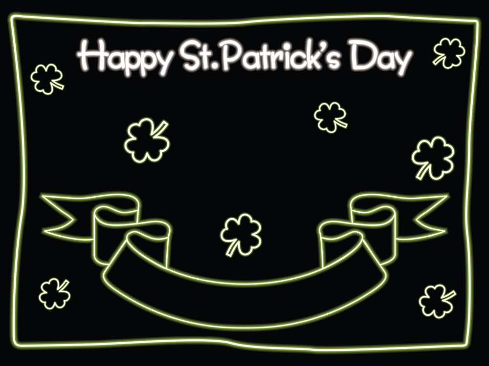 Black St. Patric Background With Ribbon 17 March