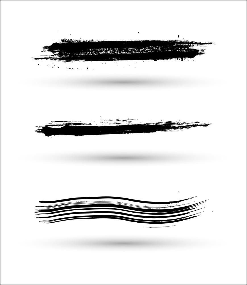 Black Strokes Vector Elements
