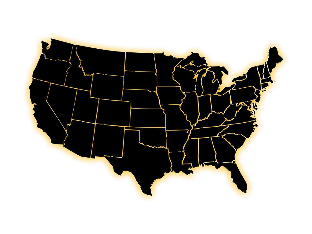Black Us Map