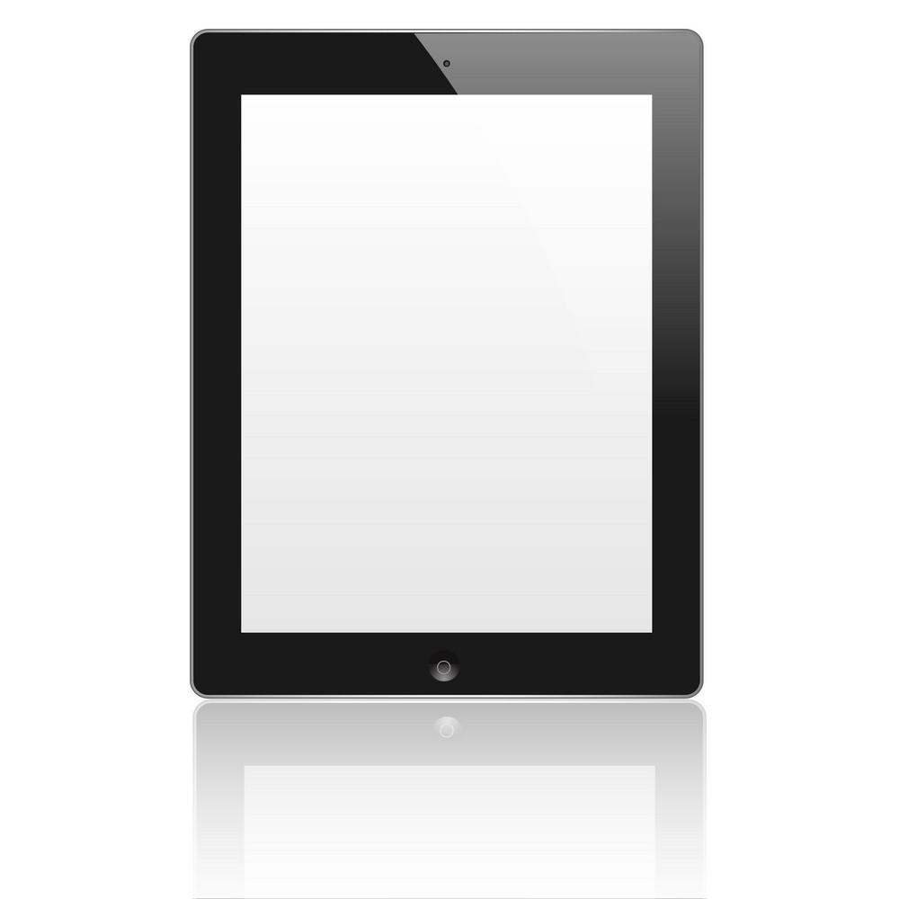 Black Vector Computer Tablet