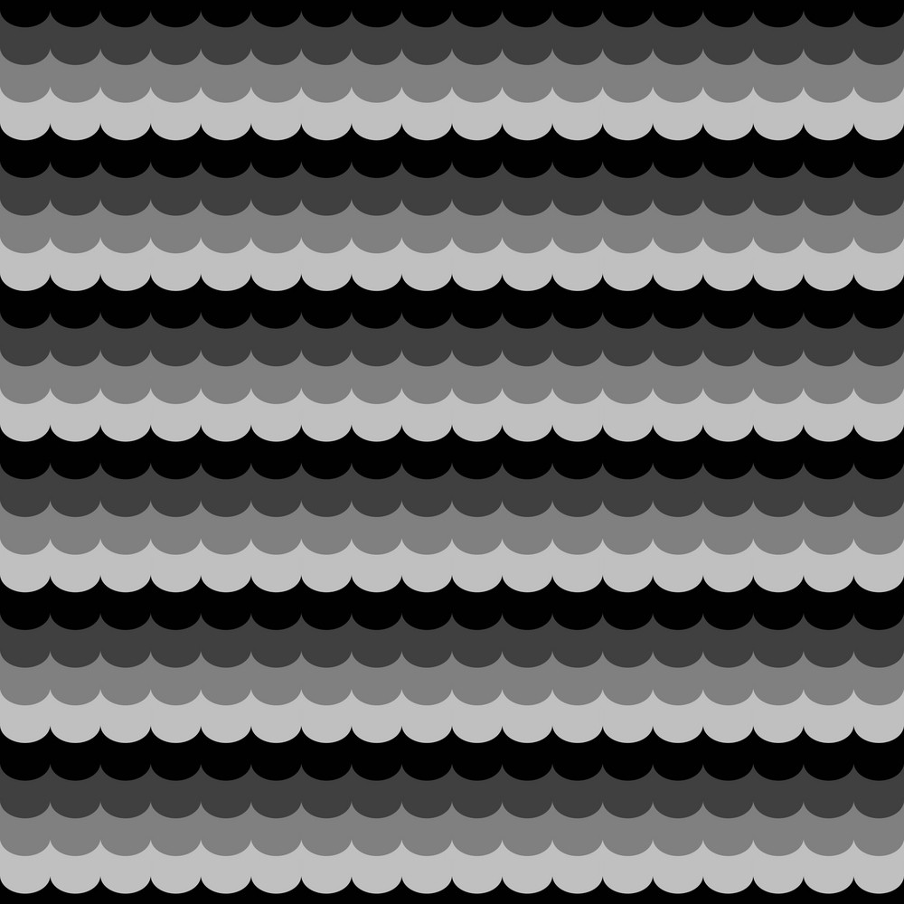 Black, White, And Grey Wave Pattern