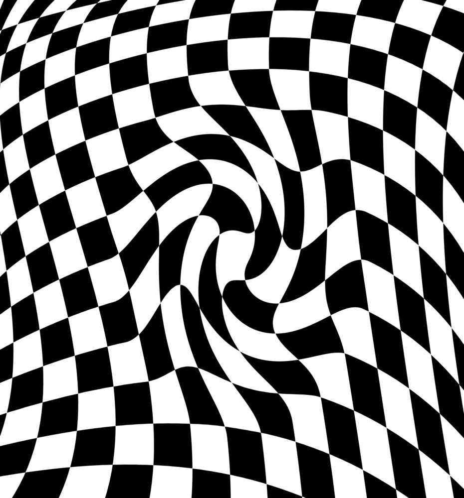 Black White  Checkered Plane