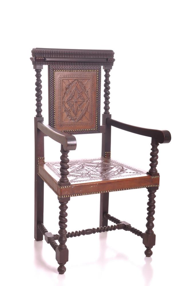 Black Wood Armchair