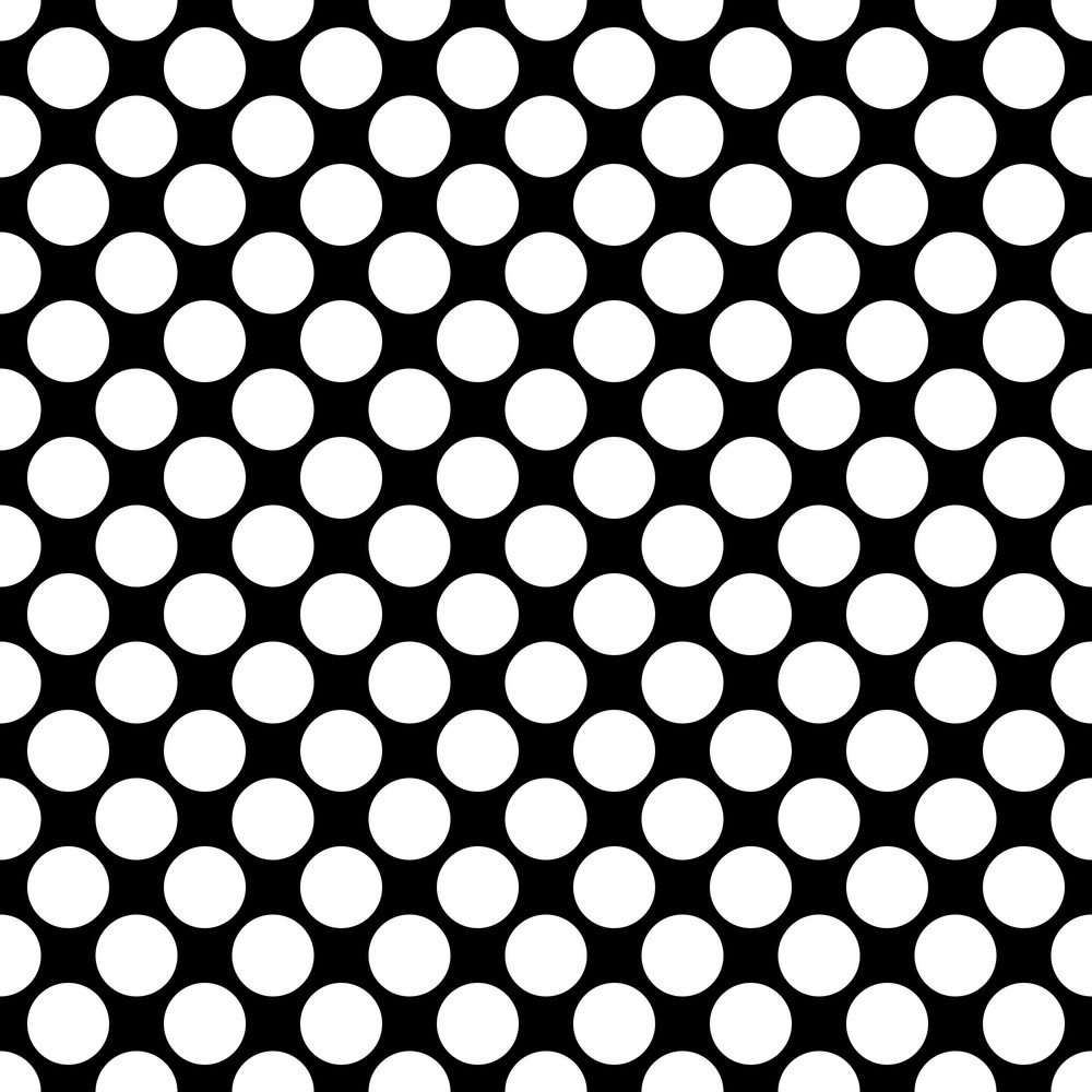 Pattern Of White Polka Dots On A Black Background