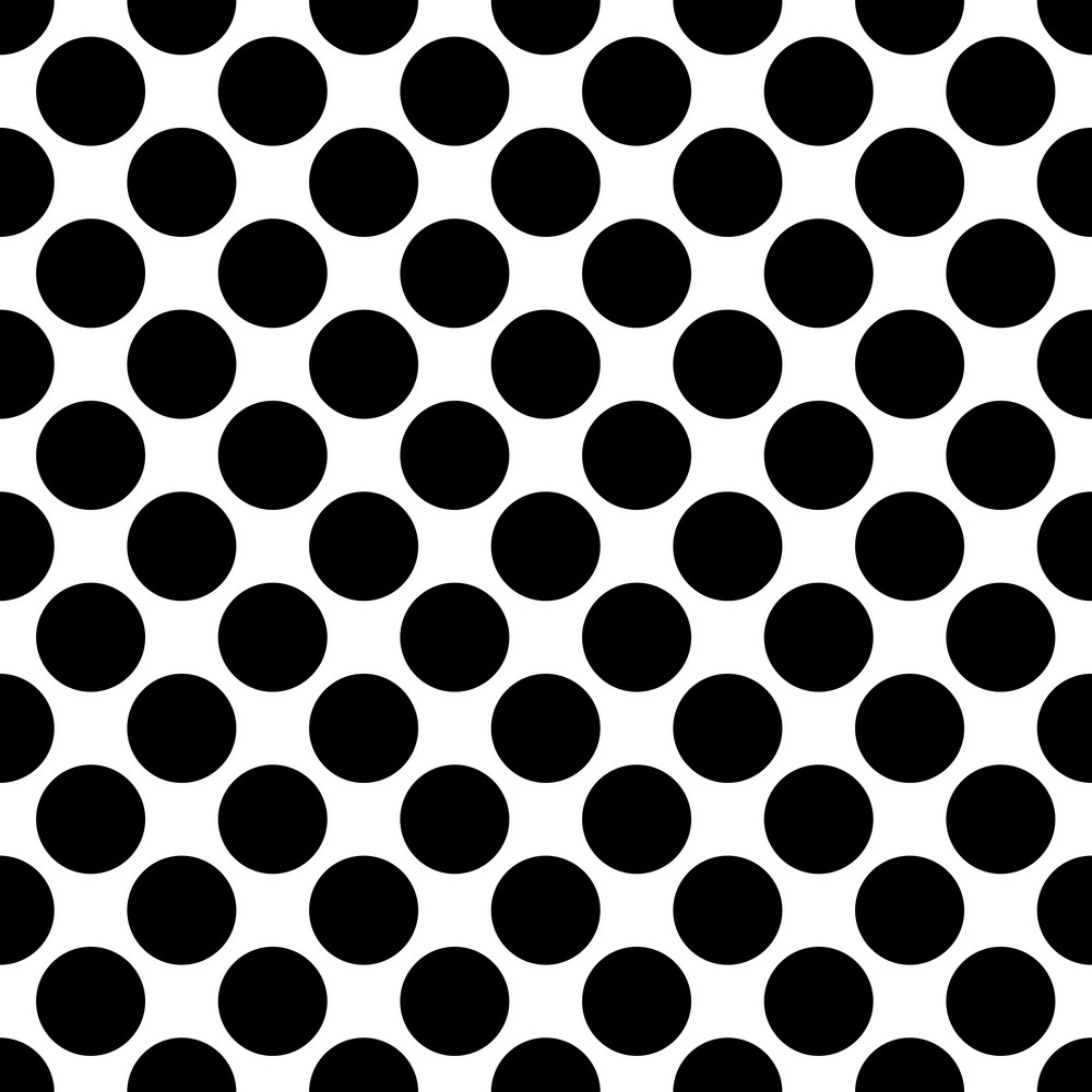 Pattern Of Black Polka Dots On A White Background