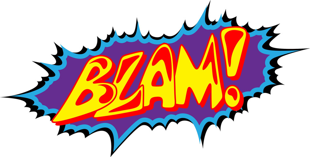 Blam - Comic Expression Vector Text