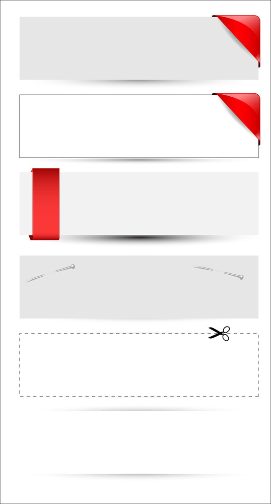 Blank Banner And Boxes Vectors