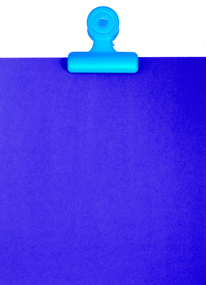 Blank Blue Clipboard For A Message Or Notice