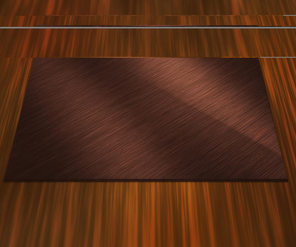 Blank Bronze Metal Plate