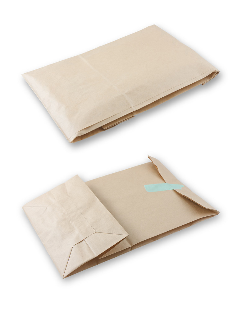 Blank Brown Envelope With Paper